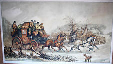 DOROTY HARDY-GRAVURE ANGLAISE-DILIGENCE-HIVER-CHEVAUX-COCHER-WAREHOUSE-