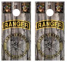 U.S. Army Rangers Cornhole Board Wraps w/FREE LAMINATION #1182