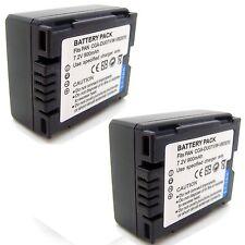 2x Battery for CGA-DU07 Panasonic VDR-D152 VDR-D158 VDR-D160 VDR-D168 VDR-D200
