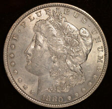 1880 P Morgan Dollar, Almost Uncirculated to Uncirculated, Slider, Silver, C4640
