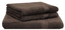 Betz lot de 3 serviettes: 1 serviettes à sauna XXL, 2 de toilette, marron foncé