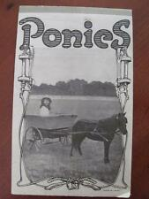 Little Girl Riding In Pony Cart Ponies Vintage Notebook Lined Writing Paper
