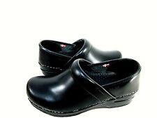 Sanita Women's Original Cabrio Pro Clog Black Comfort Shoes 40 EU (9.5-10 US)