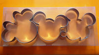 3 pcs Mickey Minnie Mouse Fondant Biscuit Cookie Cutter Set Stainless Steel