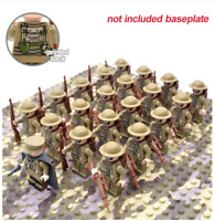21PCS Minifigures Army Soldier Military UK Soldiers Gun Weapon Backpack Lego MOC