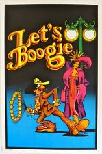 1970s Let's Boogie black light poster replica Fridge Magnet - new!