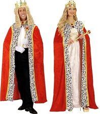 Royal Regal Red Velvet Queen King Deluxe Cape Cloak Fancy Dress Costume 150cm