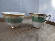 CREAMER & SUGAR BOWL/ HERBERTS ENGLISH BONE CHINA/SHABBY-CHIC DECOR/ VTG WEDDING