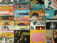 """7"""" Vinyl-Singles - Konvolut 25 Schallplatten mit Original-Hülle 70+80er Jahre"""