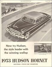 1953 Classic Car AD ;53 HUDSON HORNET National Stock Car Champion 070518