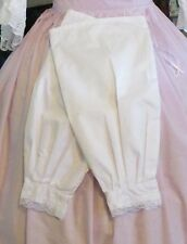 Civil War Dress Victorian Accessories Lady'S 100% Cotton Snow White Undersleeves