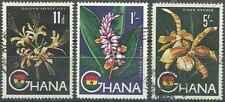 Timbres Flore Ghana 49 - 50 - 52 o lot 27373