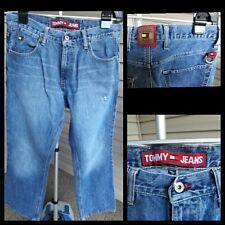 Vintage 90's TOMMY HILFIGER Blue Jeans Denim W 30 L 31 Metal Key Ring RARE