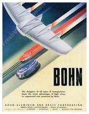 streamlined plane train bus future art 1947 Bohn ad poster 19x24