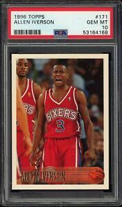 1996-97 Topps Allen Iverson ROOKIE RC #171 PSA 10 GEM MINT