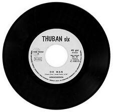 """hard/prog from GERMANY ! ARMAGEDDON : Oh Man - 7"""" ITALY 1970 - juke-box promo"""