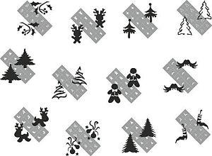Weihnachten Spezial 120 Nailart Airbrush Schablonen Winter Airbrushschablone