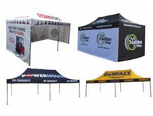 3m x 6m CUSTOM PRINTED Pop Up Commercial Gazebo ANY DESIGN Market Stall Branded