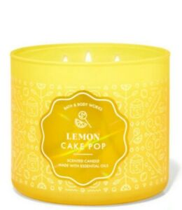 Bath and Body Works Lemon Cake Pop 3-wick candle