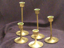 Enesco Brass Candle Holders-Set Of 5