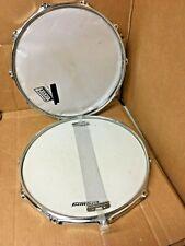 """Vintage Ludwig 14/"""" Snare Drum Top /& Bottom Hoop Steel Rim 70/'s 8 Lug Hole"""