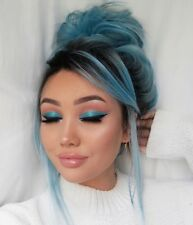 Women's Short Lace Front Wig Synthetic Hair Women Fashion Bright Blue Straight