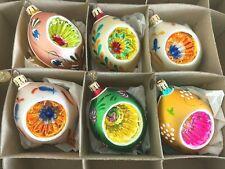Set of Christopher Radko Fantasia Glass Christmas Ornaments w/Original Box