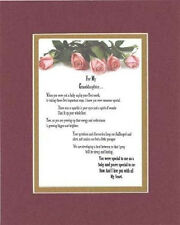 Heartfelt Poem For Granddaughters - For My Granddaughter, with Love 11x14 mat