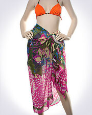PAREO - SARONG - SWIMSUIT COVER - UP - LARGE SCARF/ WRAP - ABSTRACT PAREO