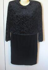 Size 10 Cocktail Dress Shomi by Miller Shor Black Velvet Vintage Designer