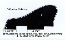2001 CASINO Elitist 65' RI 5-Ply Black Pickguard for Epiphone Guitar Project NEW