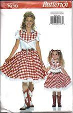 4656 UNCUT Vintage Butterick SEWING Pattern Halloween Costume Western Skirt Top
