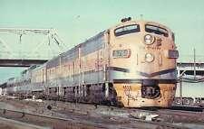 Denver & Rio Grande F7's in Aspen Gold and Silver --- Railroad Train Postcard