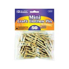 BAZIC Mini Natural Clothes Pin (50/Pack)