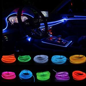 1M Car Interior Led Strip EL Wire Rope Tube With USB Driver Neon Light Decor DIY