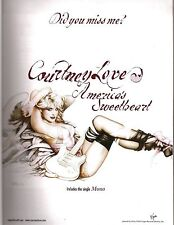 COURTNEY LOVE America's Sweetheart magazine ADVERT/Poster/clipping 11x8 inches