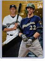 Christian Yelich 2019 Topps Gold Label Class One 5x7 Gold #37 /10 Brewers