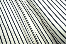 Sommersweat French Terry gestreift ecru navy 0,5m