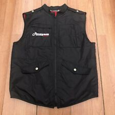 Rocawear Vest Boys L 14-16 Black Quilted Full Zip Nylon