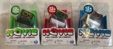 Lot Of 3 Novie QB Interactive Robot (Green,red&blue)