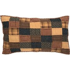 Patriotic Patch Luxury/King Quilted Pillow Sham by Vhc Brands