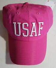 Usaf (U.S. Air Force) Text Military Cap for Women (Nylon)
