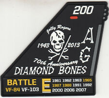 VF-103 JOLLY ROGERS DIAMOND BONES 70th ANNIVERSARY PVC (SOFT RUBBER) TAIL PATCH