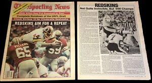 SUPER BOWL XVIII 1984 PREVIEW OAKLAND RAIDERS v WASHINGTON REDSKINS JOHN RIGGINS