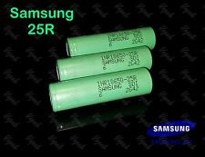 3 Authentic Samsung 25R INR 18650F 2500mAh / 20A High Drain Rechargeable Battery