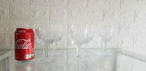 "Thomas WEBB Crystal - 6 x WELLINGTON Cut - Wine Glasses - 5 1/4"""