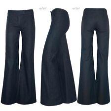 NEW Chloé Chloe Net-a-Porter Wide Leg Flare Trouser Dress Jeans Pants 2 36 TALL