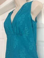New Susan Lawrence Women's  Blue Lace Pullover Top Medium Sleeveless