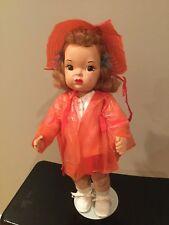 Doll Terri Lee Painted  Plastic Patent Pending Pending Loopy Tag Raincoat