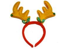 Festa Di Natale Renne Antler Fascia Alice con Holly e campanelli BELLISSIMO DESIGN